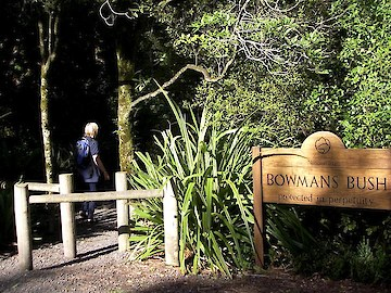 Entrance to Bowmans Bush Otatara