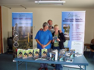 Linda, Chris and Ray at Natural Otatara book launch